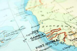 Vrijwilligerswerk in Gambia - kaart