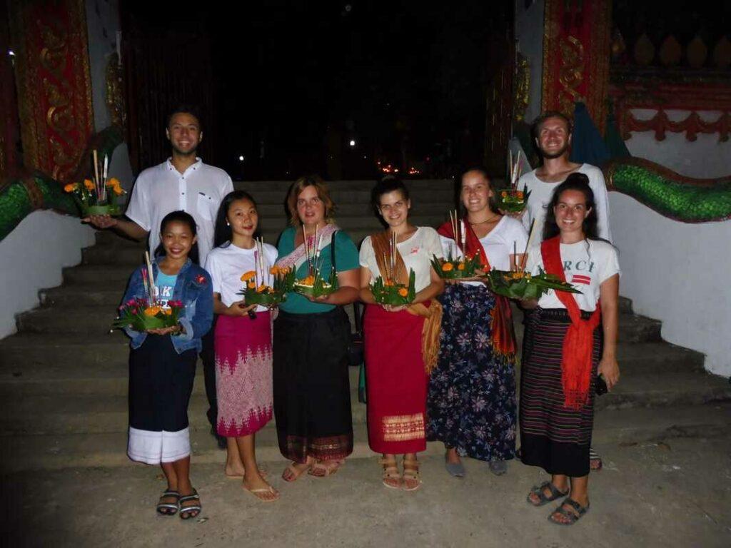 volunteer in a buddhist monastery
